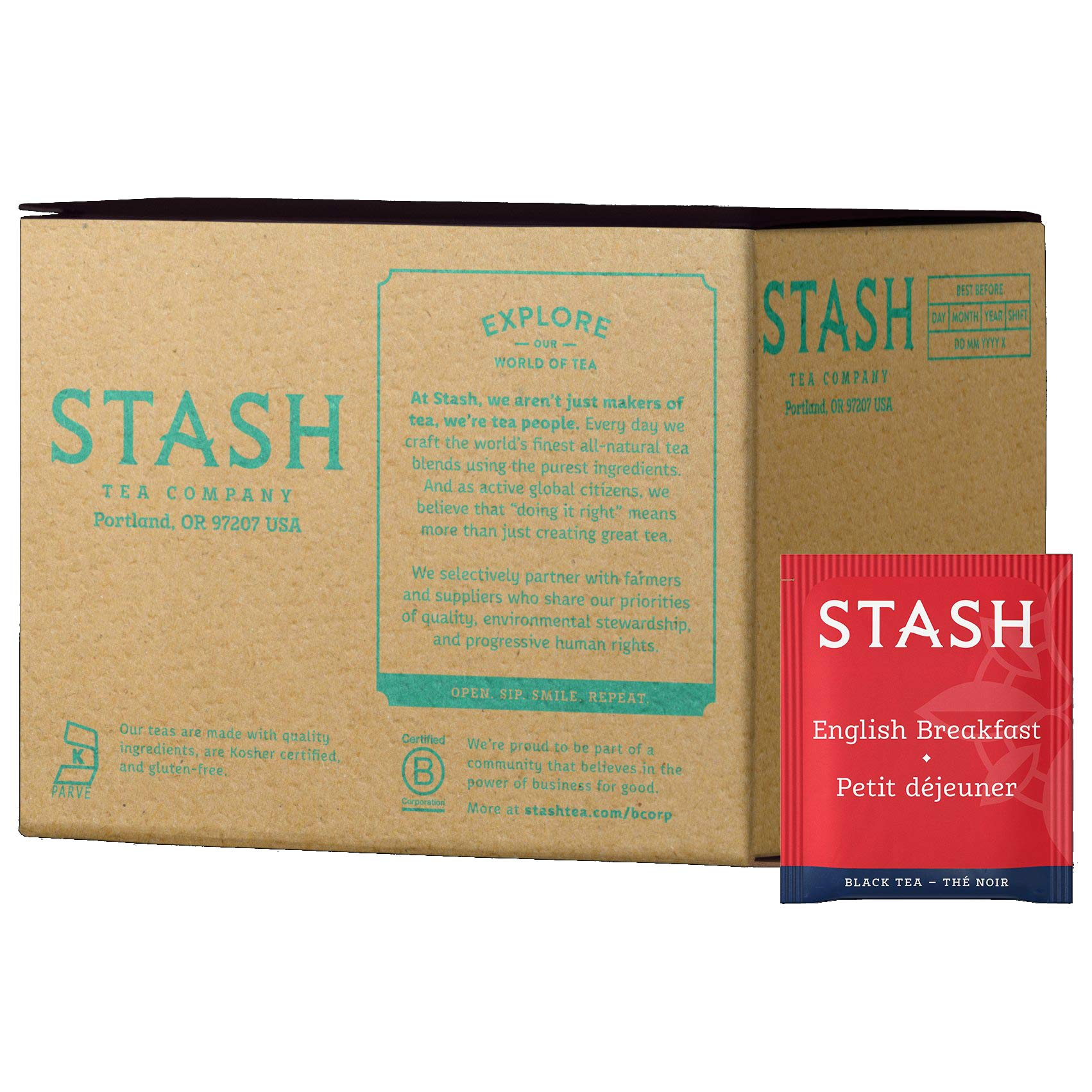 Stash Tea English Breakfast Black Tea 100 Count Box of Tea Bags in Foil by Stash