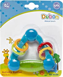 Bebe Dubon Activity Teething Rattle, Newborn, Colors May Vary