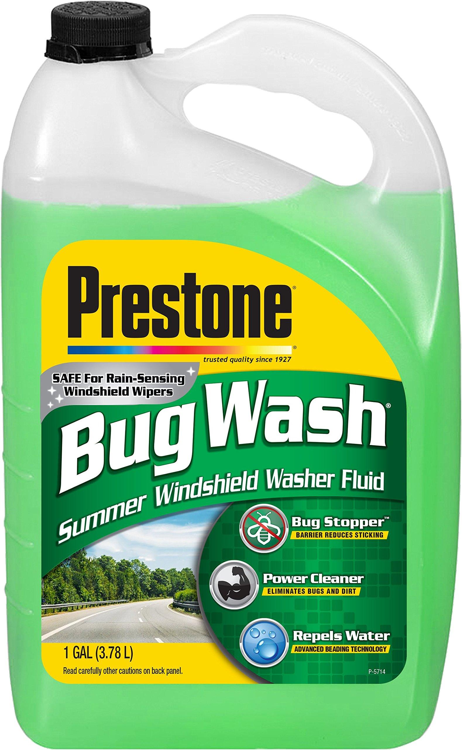 Prestone AS657-6PK Bug Wash Windshield Washer Fluid, 1 Gallon (Pack of 6)