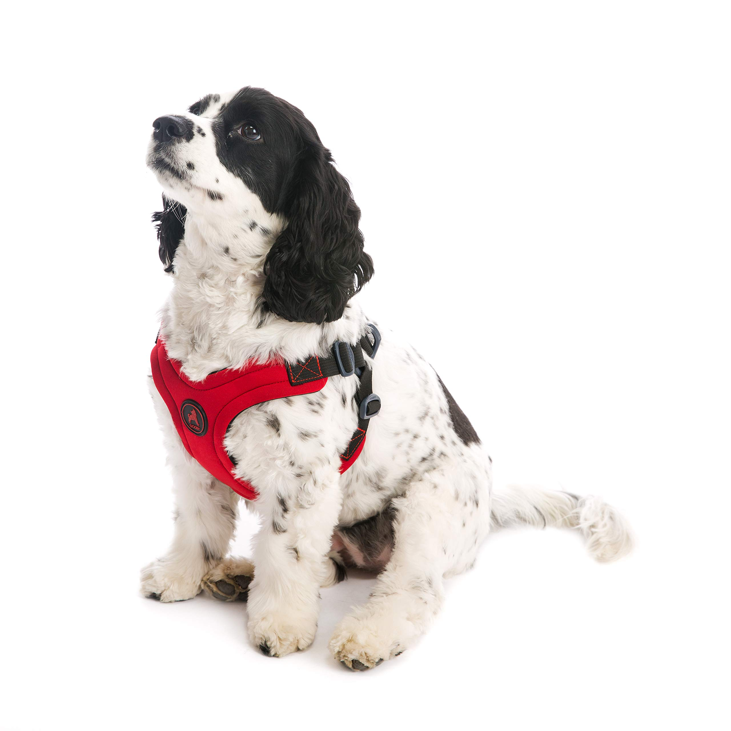 Gooby - Escape Free Sport Harness, Small Dog Step-in Neoprene Harness for Dogs That Like to Escape Their Harness, Red, Large by Gooby