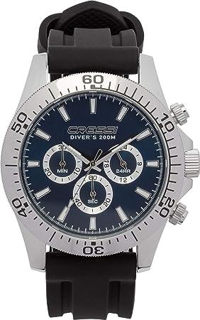 Cressi Nereus - Reloj Deportivo analógico de Cuarzo con cronógrafo y Calendario, Plateado/Azul, Uni: Amazon.es: Deportes y aire libre