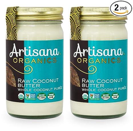 Artisana Organics Raw Coconut Butter (2 Pack (14 oz)) | No Sugar Added, Paleo, Keto Snack, Vegan and Non-GMO