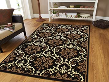 Amazon Com Small Rugs For Bedroom Contemporary Rugs Black 2x3 Rug