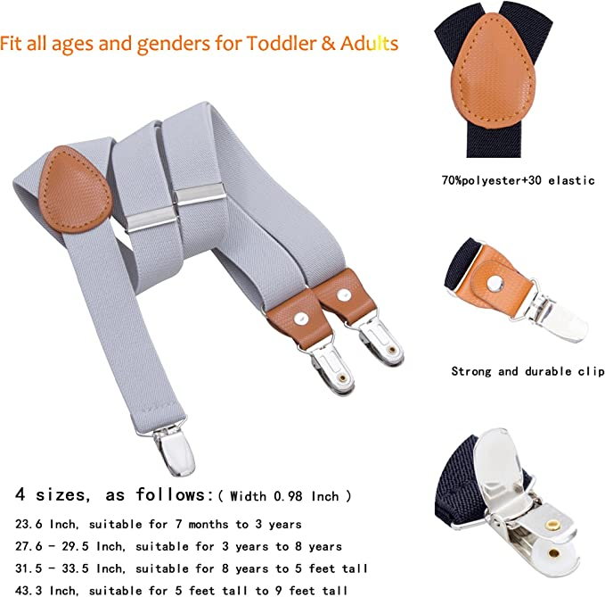 Baby Kids Children Clip-on Y-Back Adjustable Elastic Suspenders 2.5*85cm Belt UK