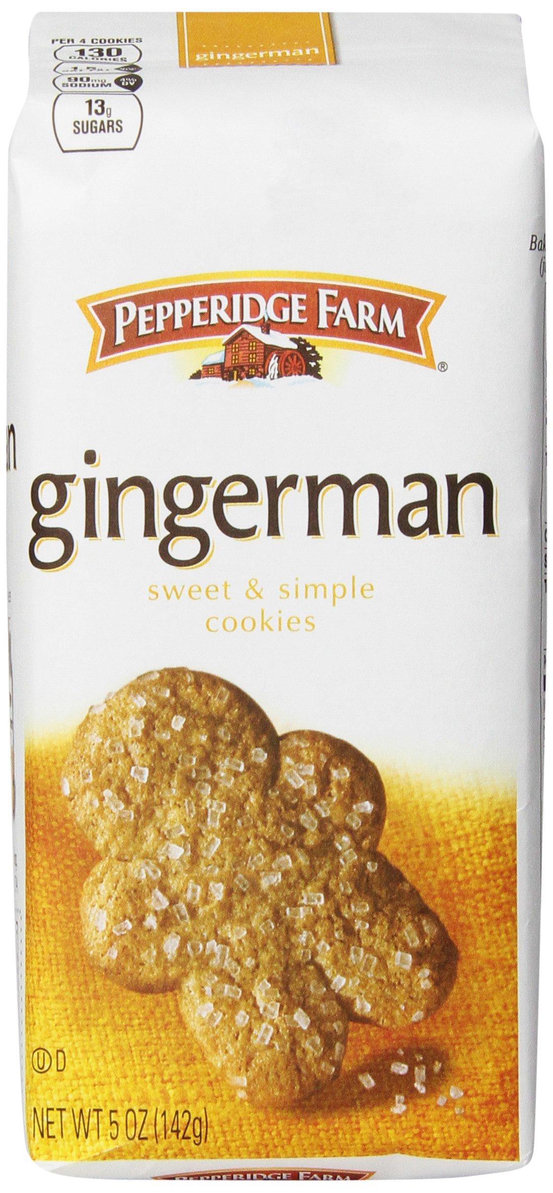Pepperidge Farm Gingermen Cookies, 5 Ounce (Pack of 12)