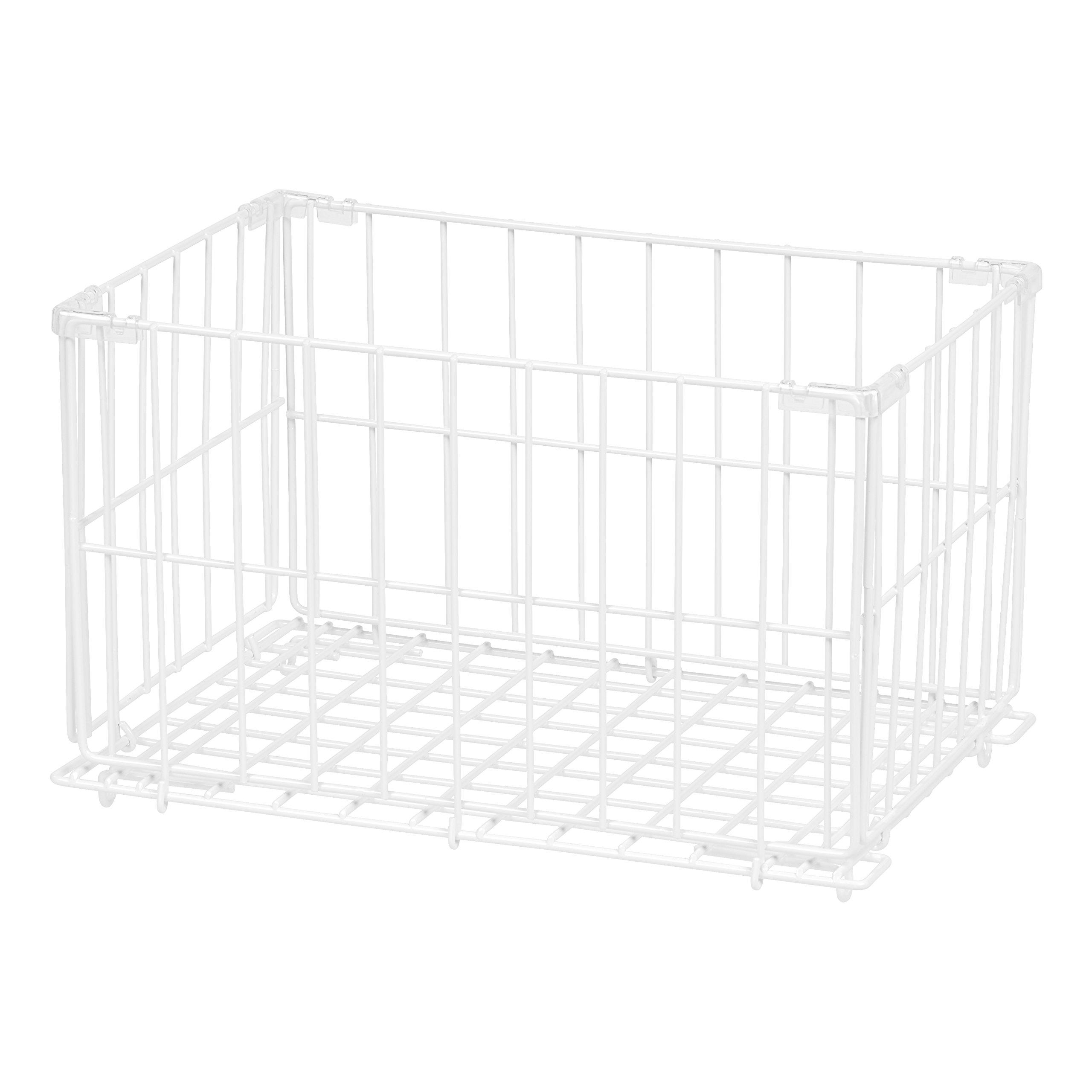 IRIS Modular Wire Stacking Storage Container, Small, White by IRIS USA,