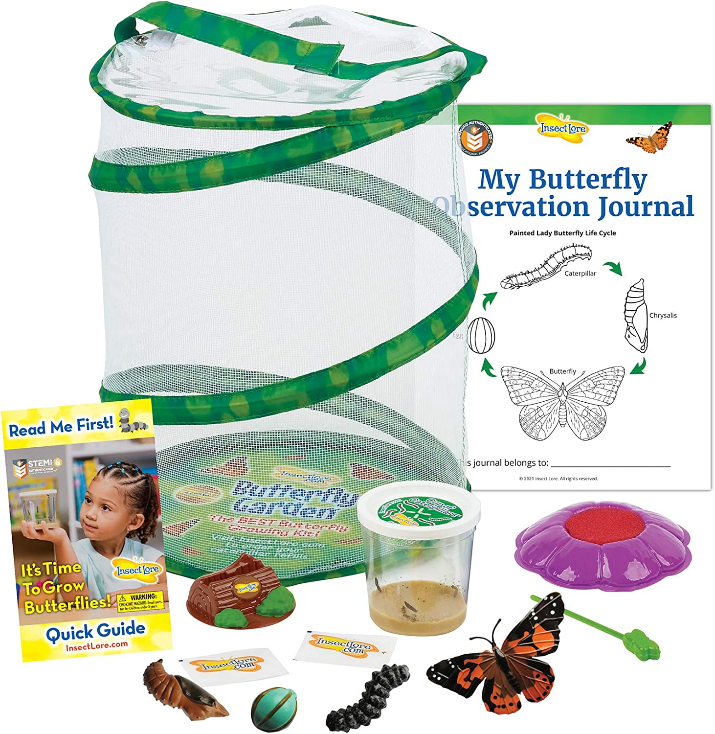 Insect Lore Butterfly Garden with Cup of Caterpillars - Plus Butterfly Life Cycle Stages