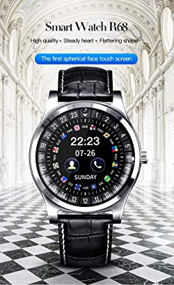 Bluetooth Smart Watch - Touch Screen Smart Wrist Watch Smartwatch Phone with SIM Card Slot Camera Pedometer Sport Tracker Compatible iOS iPhone Android Samsung LG Phones for Men Women Kid(Black)