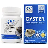 New Zealand Oyster Extract Powder - 500mg x 100 Capsules - Zinc Supplement Pills for Men and Women - Supports Immune Health, Energy and Nerve Function w/ Green Lipped Mussel