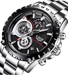 Mens Watches Full Steel Waterproof Sport Analog Quartz Watch Men Chronograph Business Black Wristwatch
