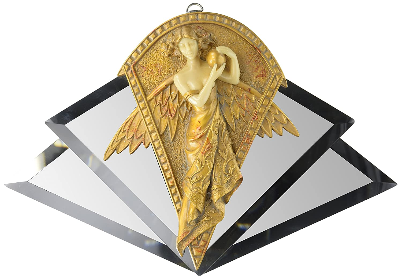 Design Toscano Art Nouveau Angel Mirrored Wall Sculpture: Amazon.co ...