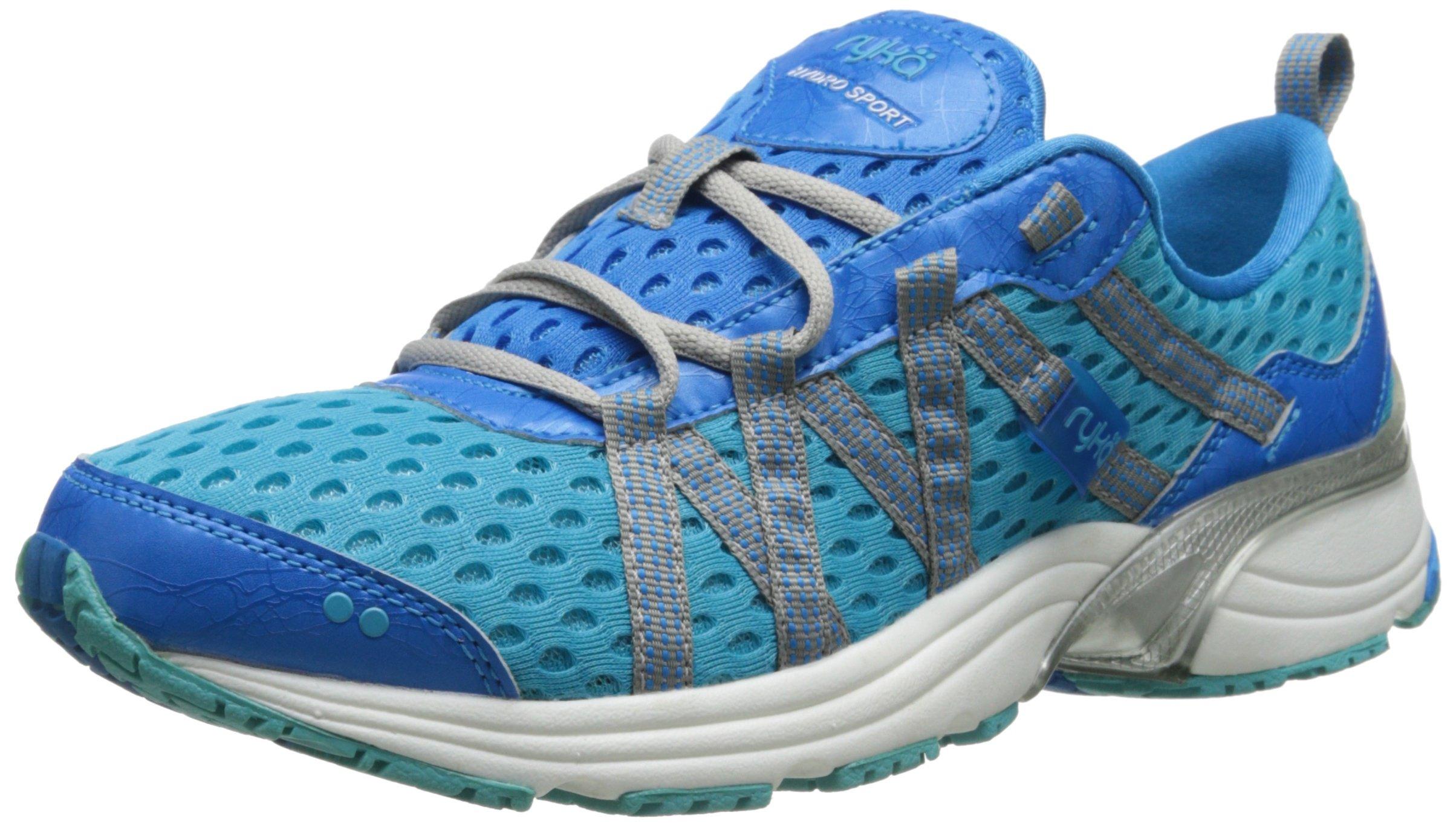 RYKA Women's Hydro Sport Water Shoe Cross Trainer, Detox Twinkle Blue/Chrome Silver, 5 M US