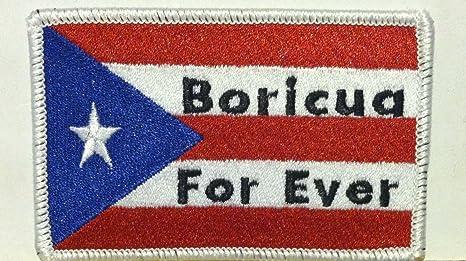 Bandera de Puerto Rico bordado parche para planchar (Boricua Para ...