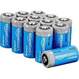 AmazonBasics Lithium CR123a 3 Volt Batteries - Pack of 12