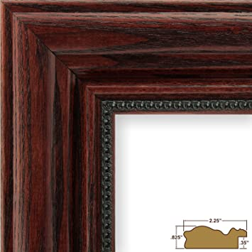18x24 picture poster frame real wood grain finish 225 wide cherry