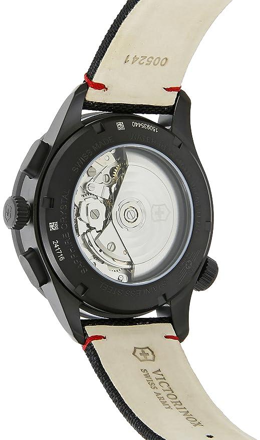 e2b35cd13 Amazon.com: Victorinox 241716 AirBoss Mach 9 Black Edition Hodinky Analog  Swiss Automatic Watch: Watches