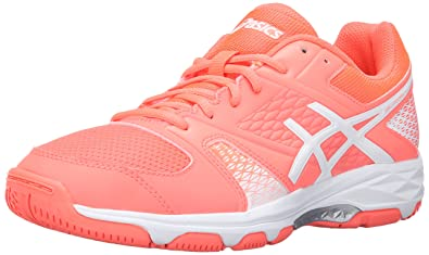 ASICS Womens GelDomain 4 Volleyball Shoe       Flash Coral White White