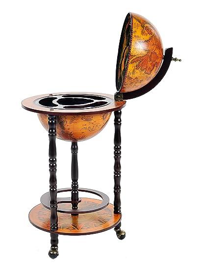 Amazon Com Old Modern Handicrafts Globe Bar Table With 4 Leg Stand