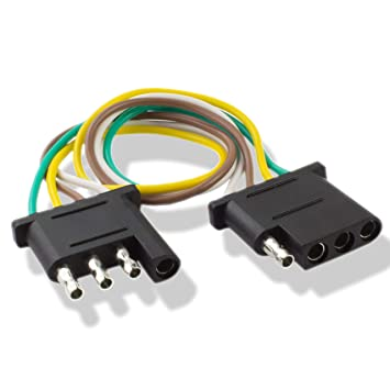 amazon com 225fwy 6 feet trailer light wiring harness extension 4 RV Wiring Harness amazon com 225fwy 6 feet trailer light wiring harness extension 4 pin plus 18 awg flat wire connector automotive