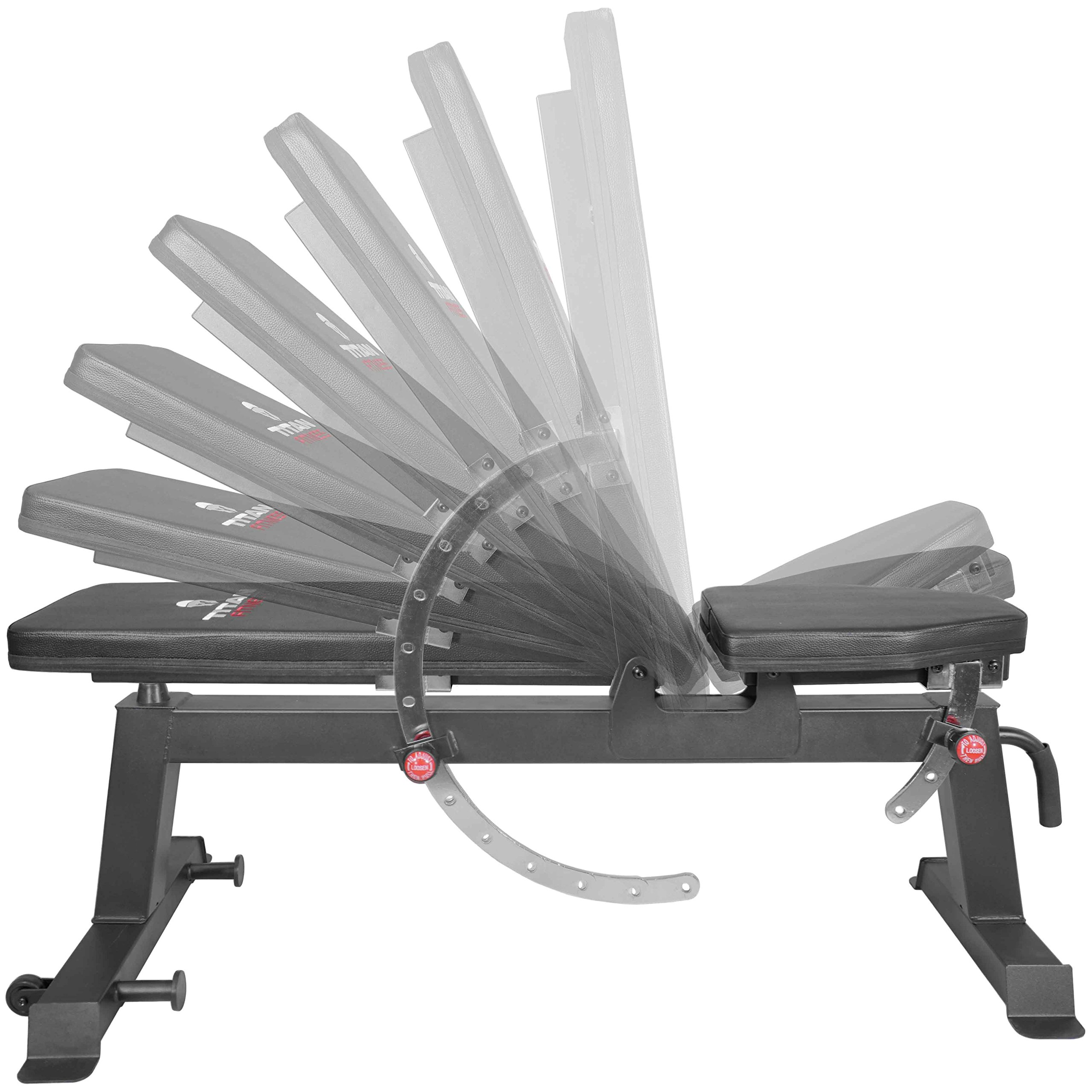 Titan Fitness Adjustable Flat Incline Weight Bench 650 lb Rated Capacity by Titan Fitness (Image #3)