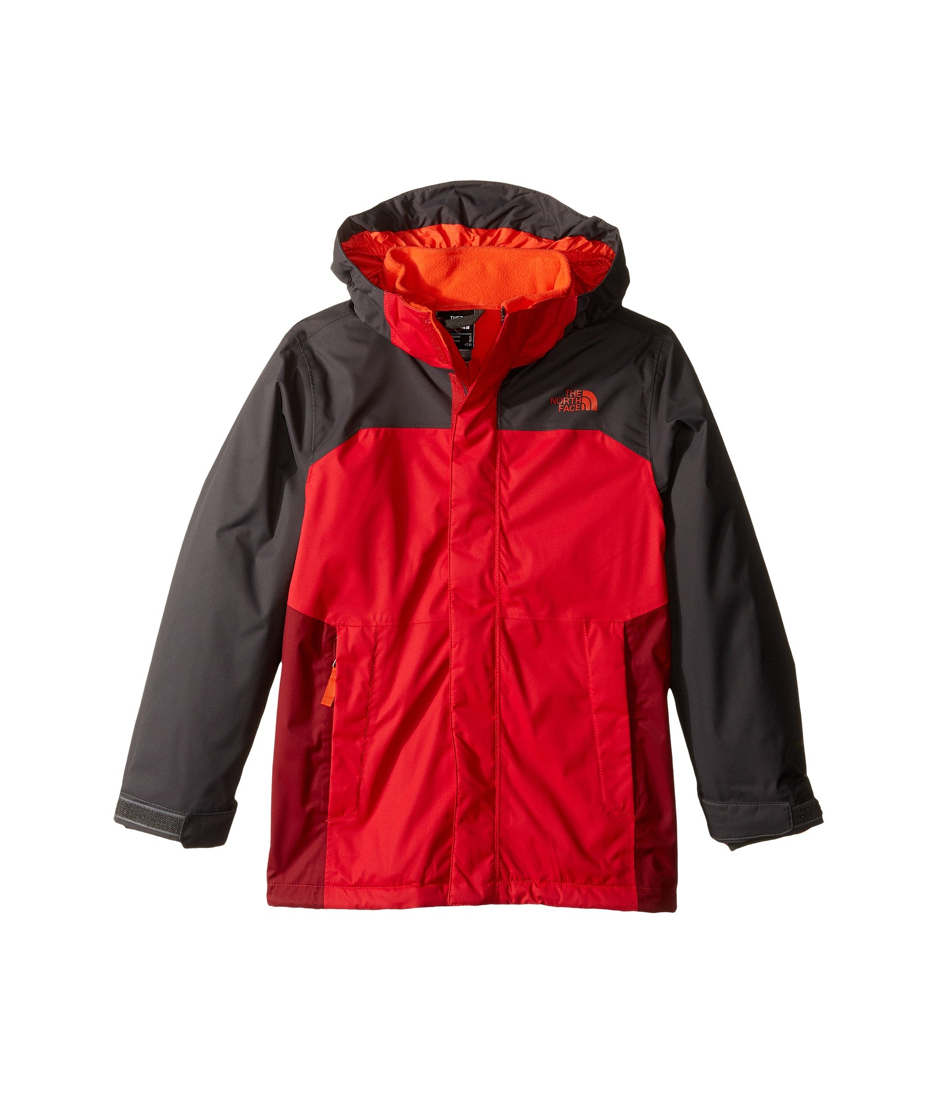 The North Face Big Boys' Vortex Triclimate Jacket (Sizes 8 - 20) - red, xl/18