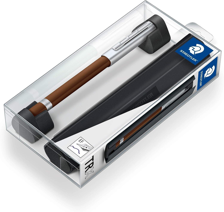 STAEDTLER 476TRX7 EFST Pluma estilográfica de aluminio con tinta de color azul