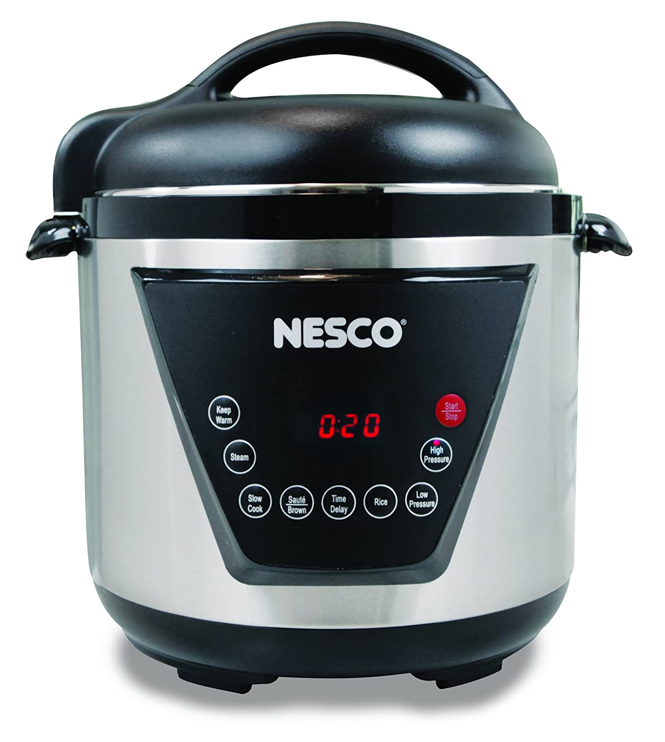 NESCO PC6-13, Pressure Cooker, Silver/Black, 6 quart, 1000 watts