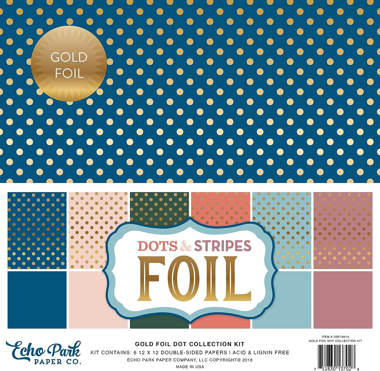 Echo Park Paper Company Gold Foil Dot Collection Kit