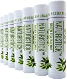 7-Pack Green Tea Lip Balm Gift Set by Naturistick. 100% Natural Ingredients. Best Beeswax Chapstick for Dry, Chapped…