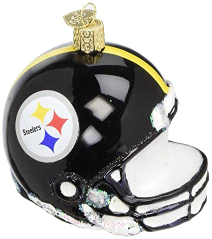 Steelers Christmas Ornaments.Old World Christmas Ornaments Nfl Pittsburgh Steelers Helmet Glass Blown Ornaments For Christmas Tree