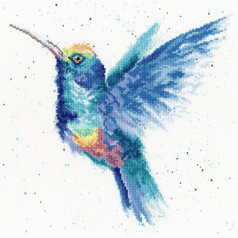 Bothy Threads dise/ño de colibr/í arco/íris Kit de Punto de Cruz