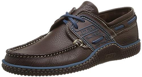 TBS Men's Globek Boat Shoes brown Size: 7 UK