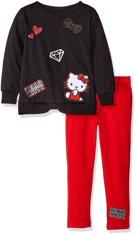 Hello Kitty Baby Girls' Hooded Legging Set with Printed Tutu Details (2 Piece Legging Set) K8703