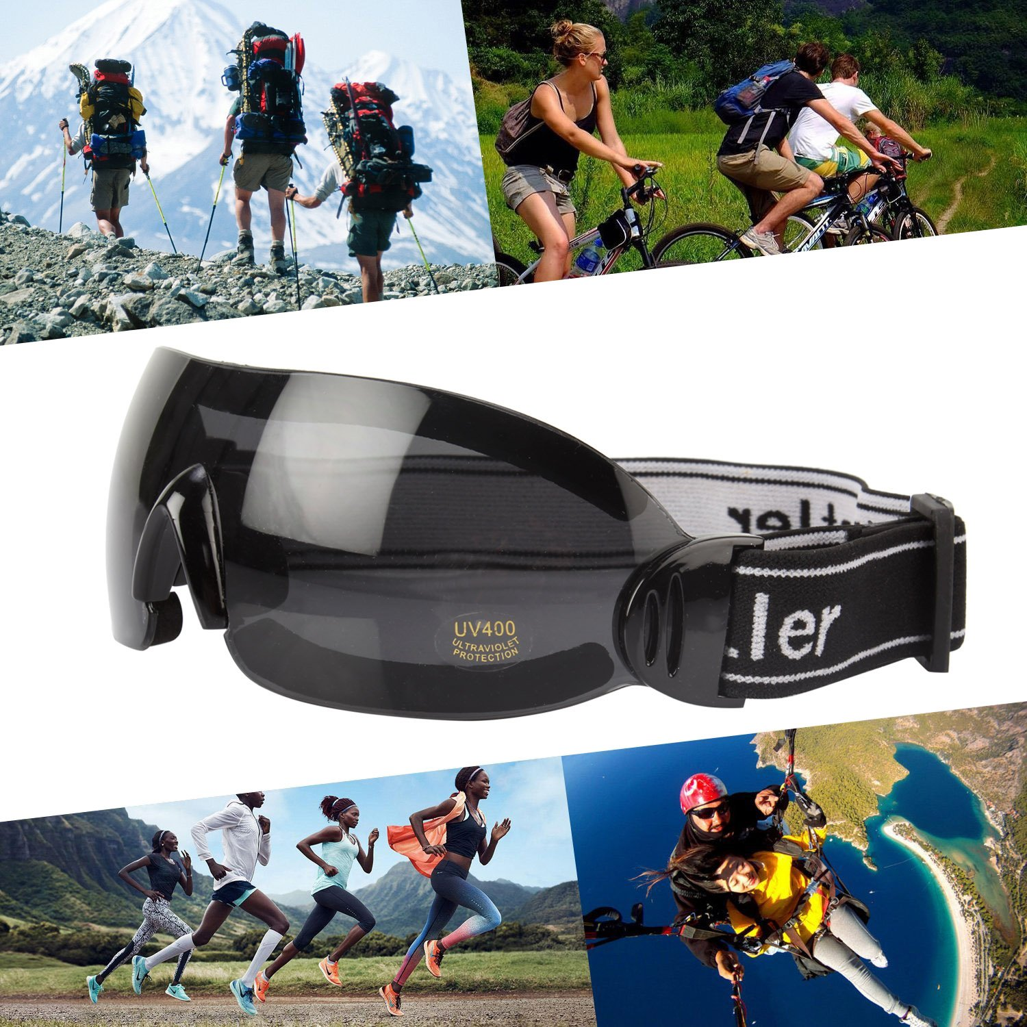 a061cd18b1f Buy RuggedTrails Riding Glasses with UV400 Protection and Strap Online at  Low Prices in India - Amazon.in