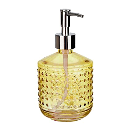Rail19 Hobnail Gold Glass Liquid Hand Soap Dispenser Pump for The Kitchen  and Bathroom Sink - Great for Dish Soap, Hand Soap and Hand Lotion + ...