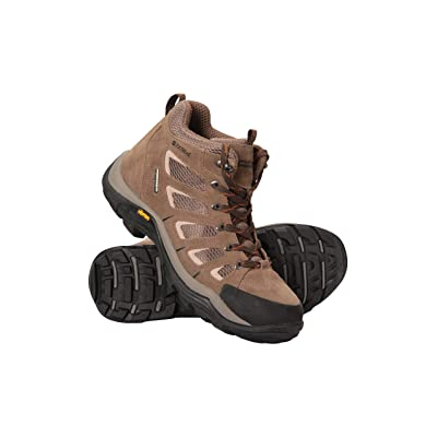 Mountain Warehouse Field Waterproof Vibram Hiking Boots - for Walking | Rain