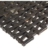 """Durable Corporation 108 Recylcled Tire-Link Anti-Fatigue Mat, for Wet Areas, Herringbone Weave, 24"""" Width x 36"""" Length x 5/8"""" Thickness, Black"""