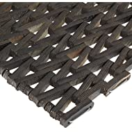 "Durable Durite Recycled Tire-Link Outdoor Entrance Mat, Herringbone Weave, 17"" x 25"", Black"