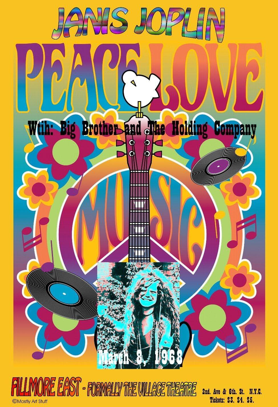 Janis Joplin Bob Masse Rock Music Poster 24x36