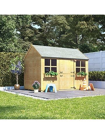 fef5a93d0dc8 BillyOh 6x4 Gingerbread Junior Children Wooden Playhouse Outdoor Garden -  Premium 6ftx4ft