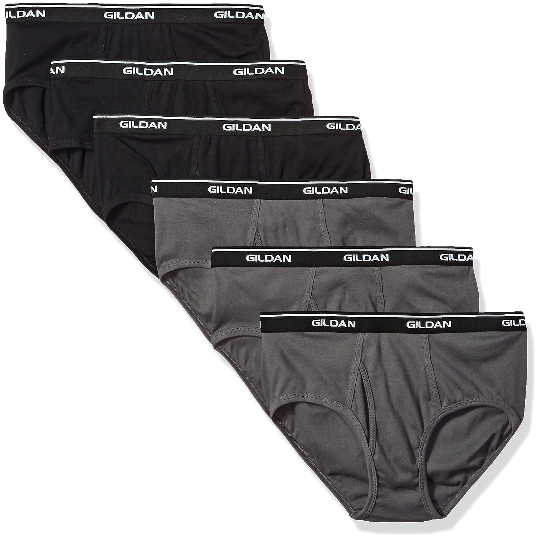 Gildan Platinum Brief 6-Pack Black/Charcoal 2XL G1101PL-976-2XL