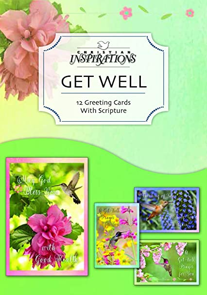 natures friends get well greeting cards niv scripture box - Get Well Greeting Cards
