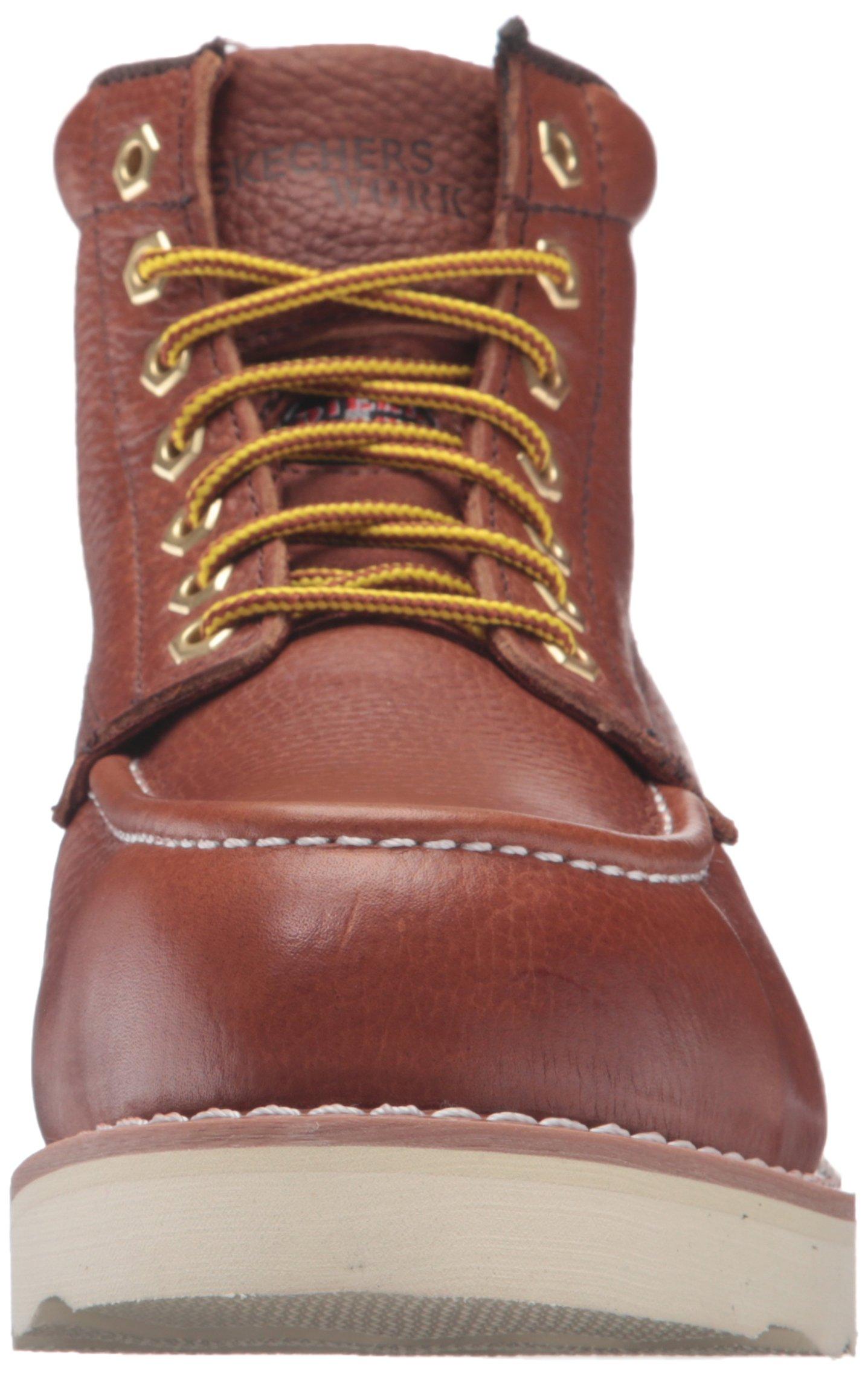 Skechers for Work Men's Pettus Grafford Work Boot,Red Brown,10.5 M US by Skechers (Image #4)