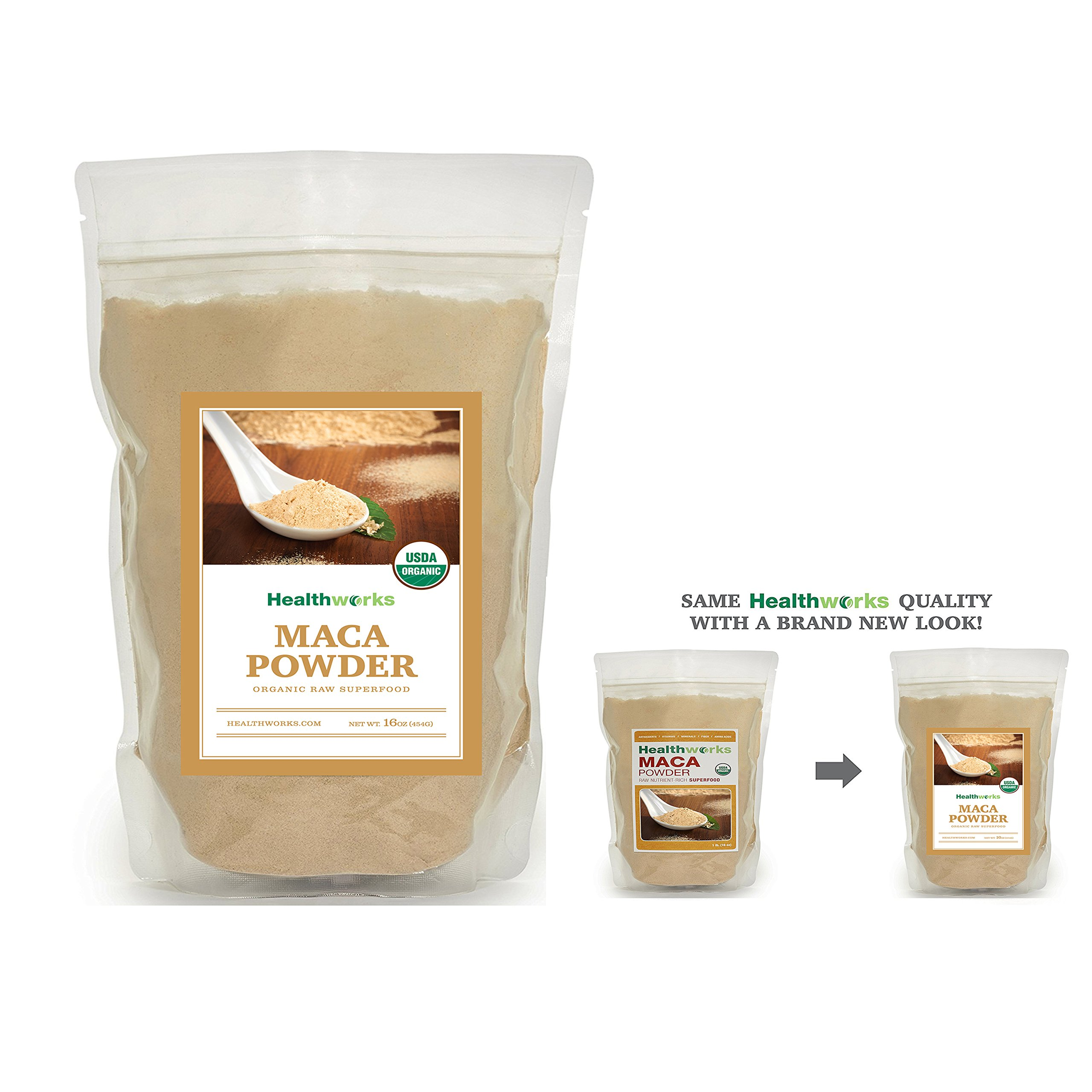 Healthworks Maca Powder Raw Organic, 1lb