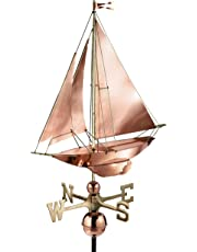Good Directions Racing Sloop Weathervane, Pure Copper, Boat