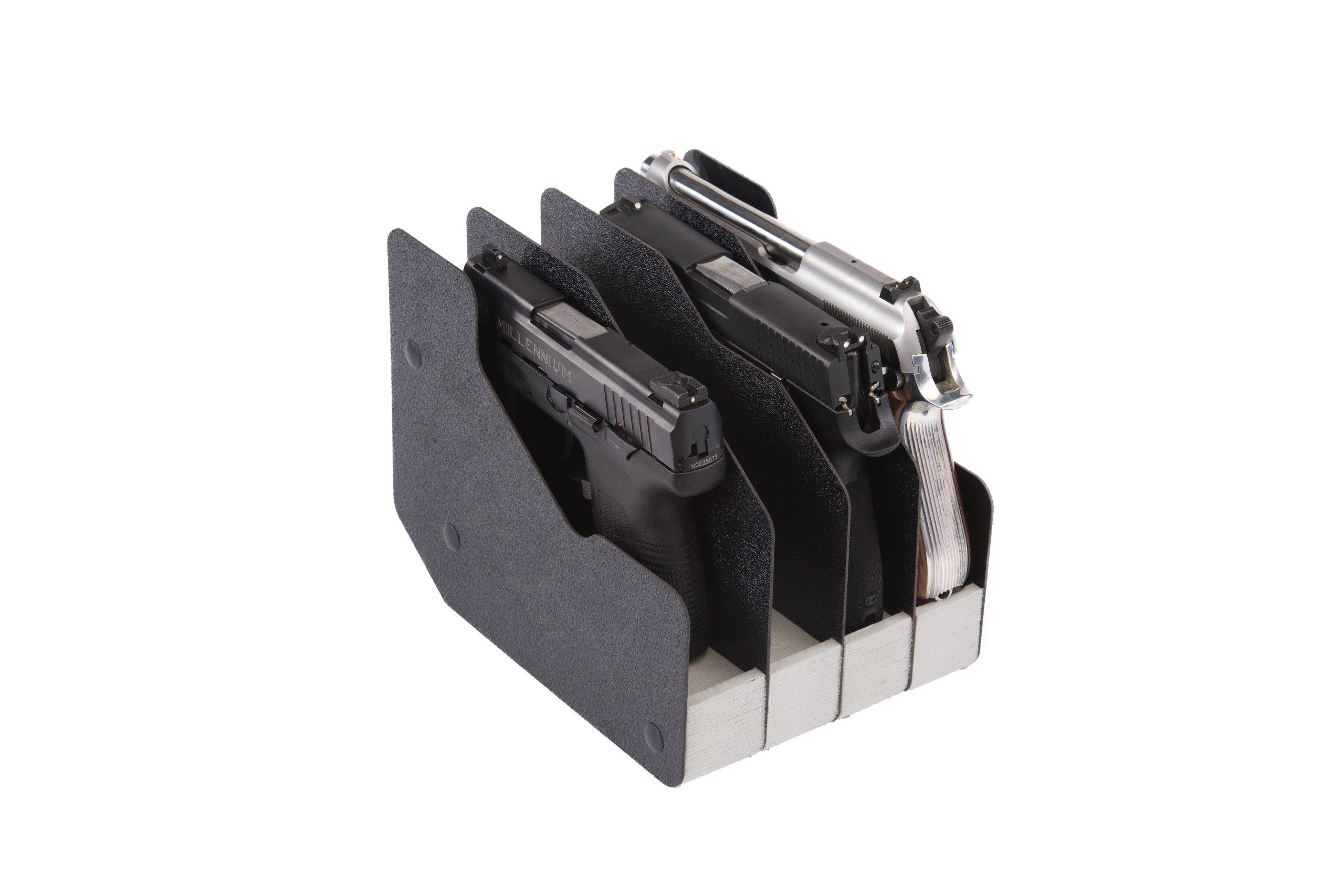 Benchmaster - Weapon Rack - Four (4) Gun Pistol Rack - Gun Safe Storage Accessories - Gun Rack by BenchMaster