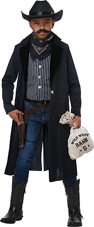 Victorian Men's Clothing, Fashion – 1840 to 1890s California Costumes Wild West Sheriff/Outlaw Child Costume $49.99 AT vintagedancer.com