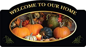 Welcome to Our Home Plaque - Seasonal Welcome to Home Sign