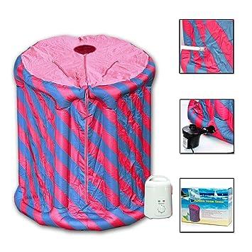die mobile dampfsauna - minisauna svedana pink/blau aufblasbar ... - Aufblasbare Mobile Badezimmer
