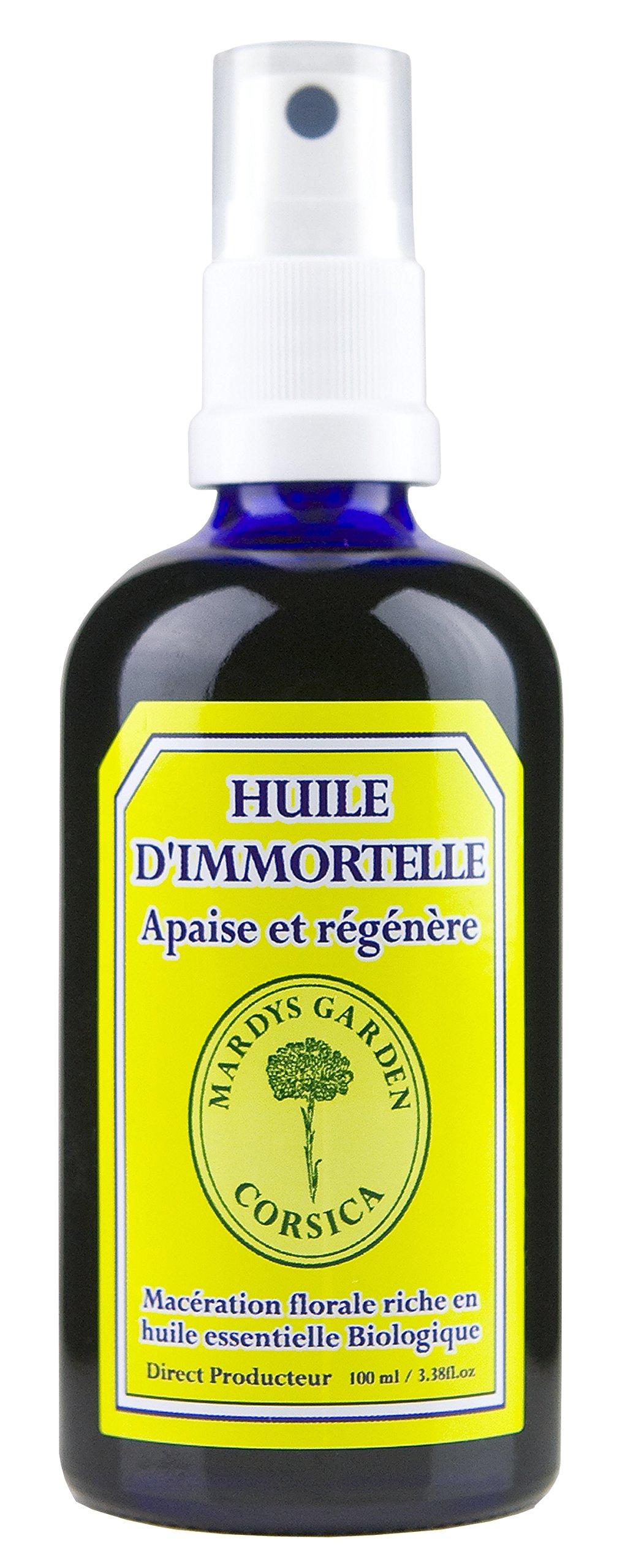 Huile d'immortelle Corse 100ml. Prête à l'emploi, macérât de fleurs riche en huile essentielle d'immortelle Bio. product image